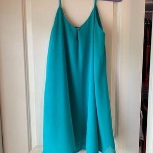 Blue/green flowy dress